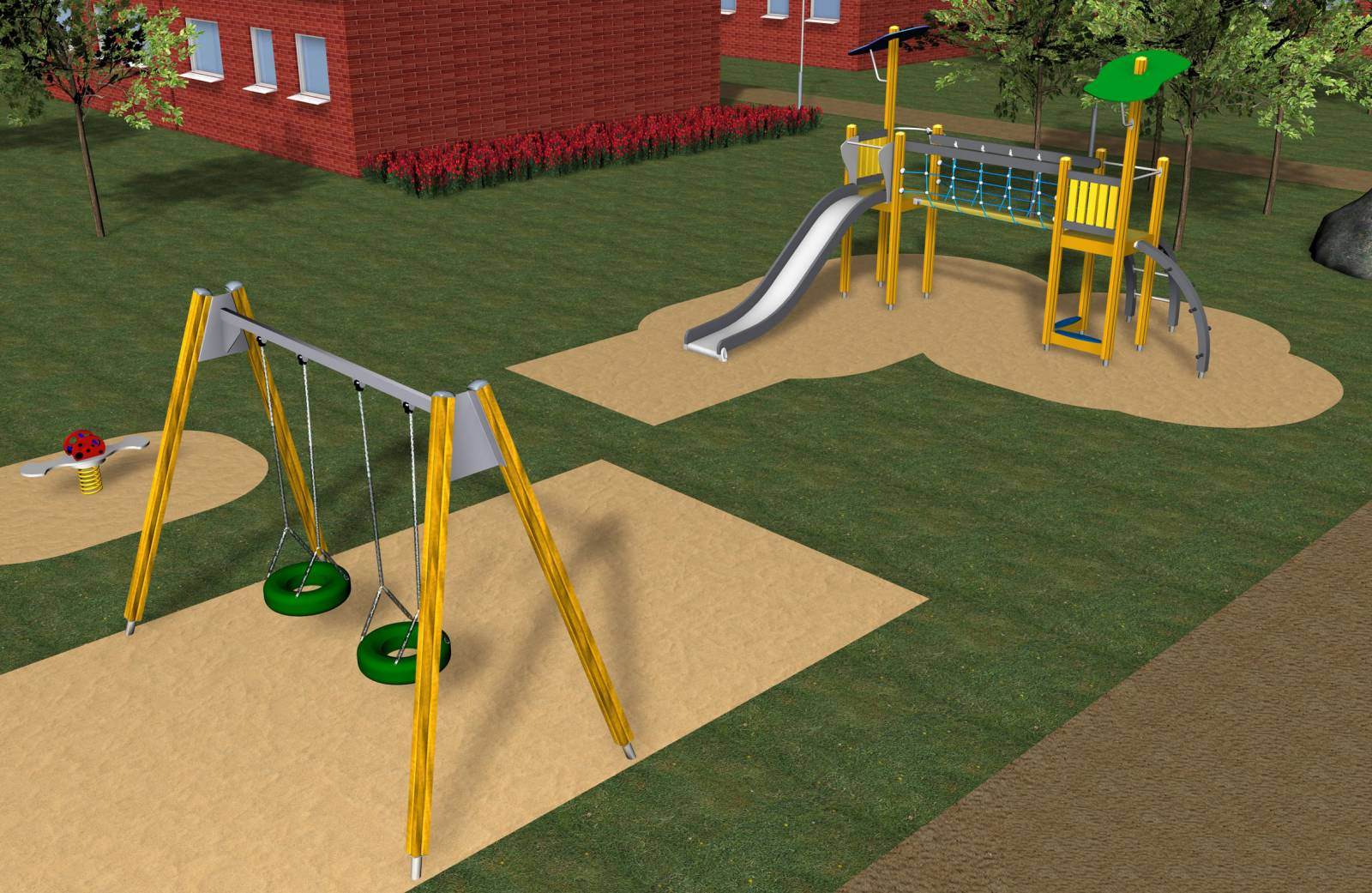 Как сделать спортивную детскую площадку