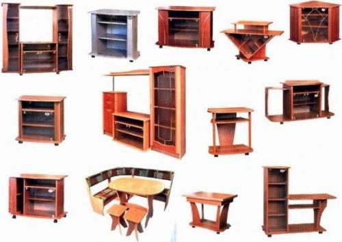 Ассортимент корпусной мебели.