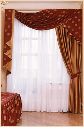 Дизайн штор для зала в картинках