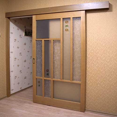 Межкомнатная дверь купе своими руками с фото