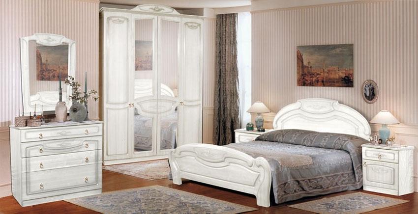 Белая мебель для спальни фото
